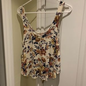 American Eagle Tank Top Medium Floral